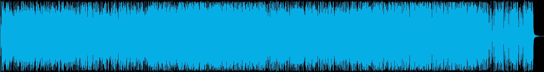 おしゃれなピアノシンセ打楽器サウンドの再生済みの波形