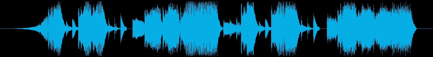Jingle-Pop/Chip/Bassの再生済みの波形