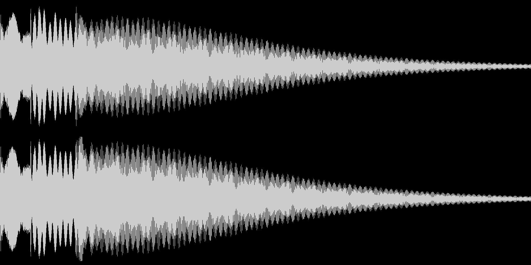 獲得音等の未再生の波形