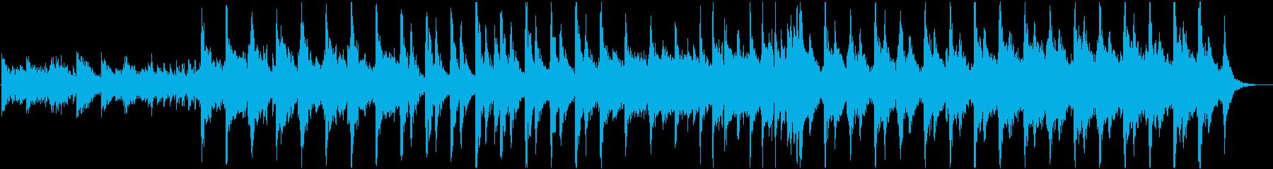 ピアノ、弦楽器、ベース、グロッケン...の再生済みの波形