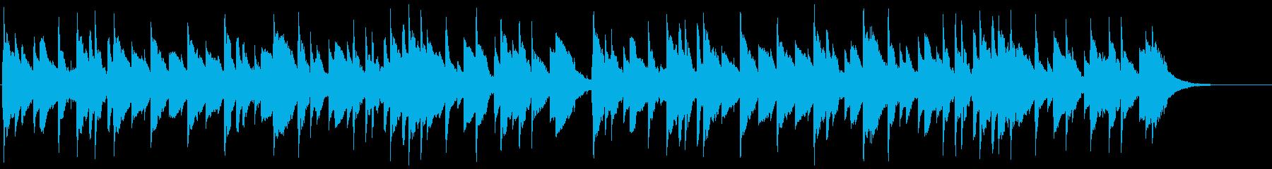 【童謡】雪(オルゴール)の再生済みの波形