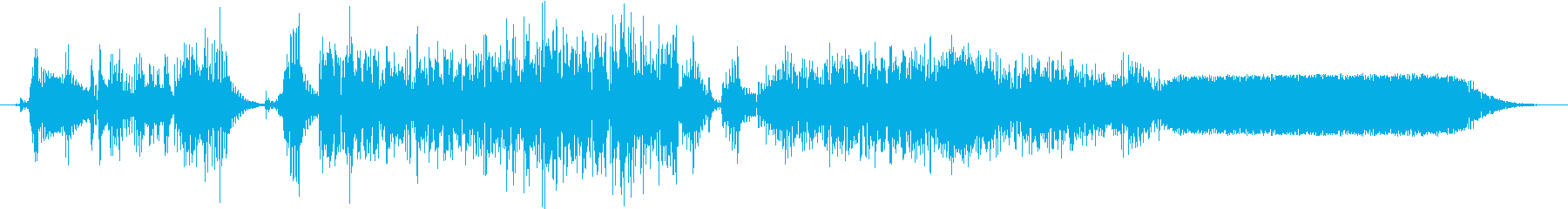 重度の不規則なテレメトリバーストま...の再生済みの波形