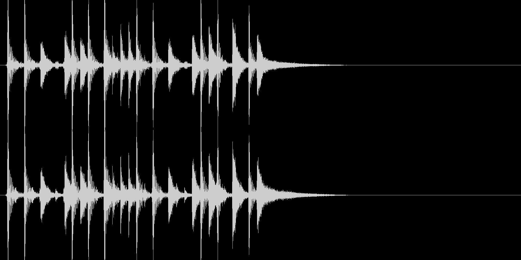 ドラムの短いジングルです。の未再生の波形