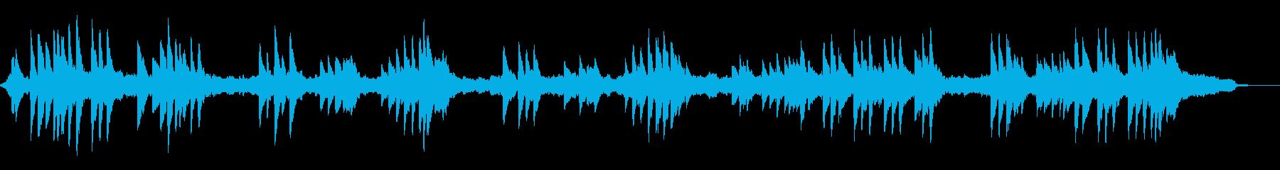 柔らかいハープの音色~和風のBGM~の再生済みの波形