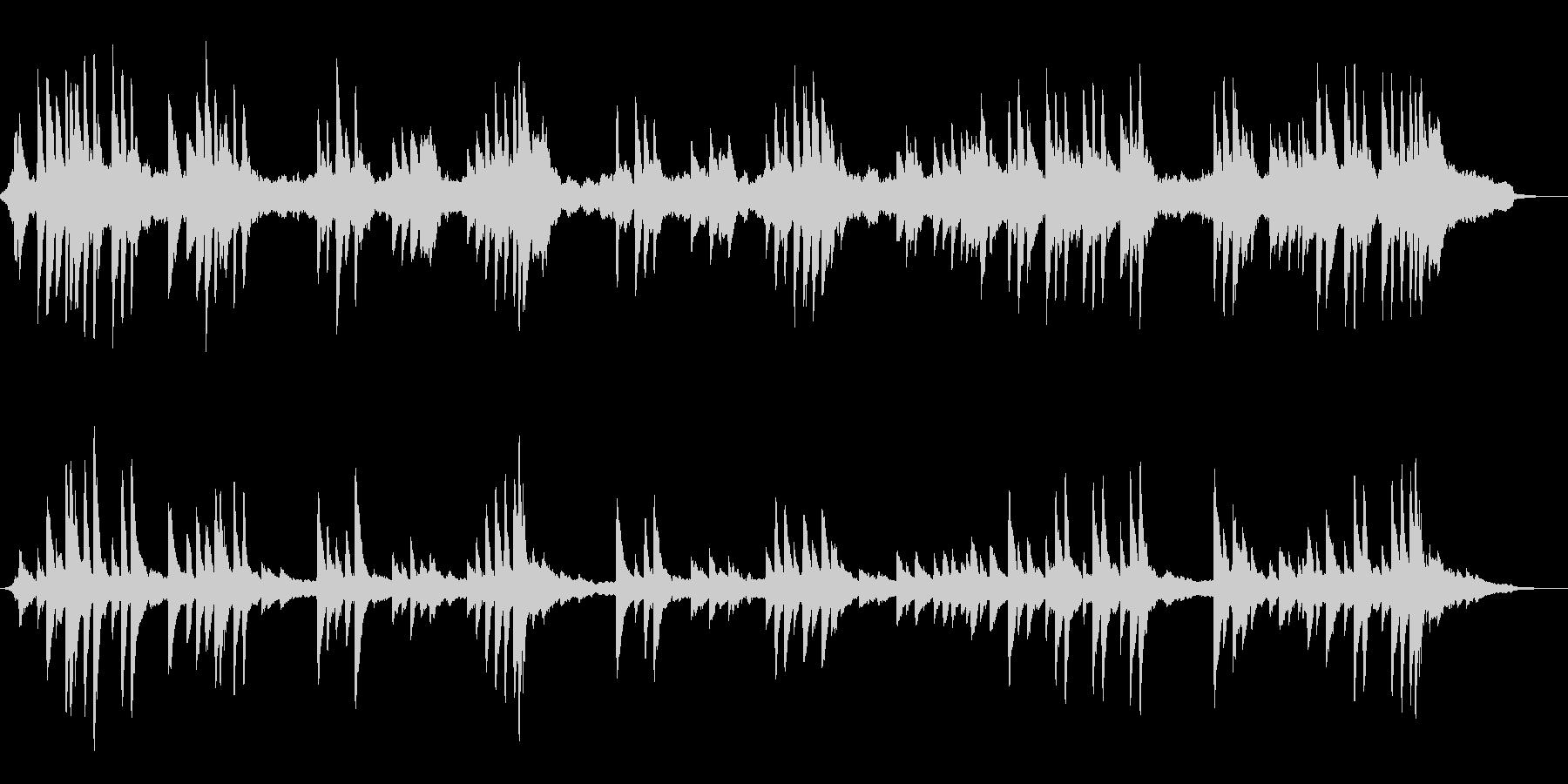 柔らかいハープの音色~和風のBGM~の未再生の波形