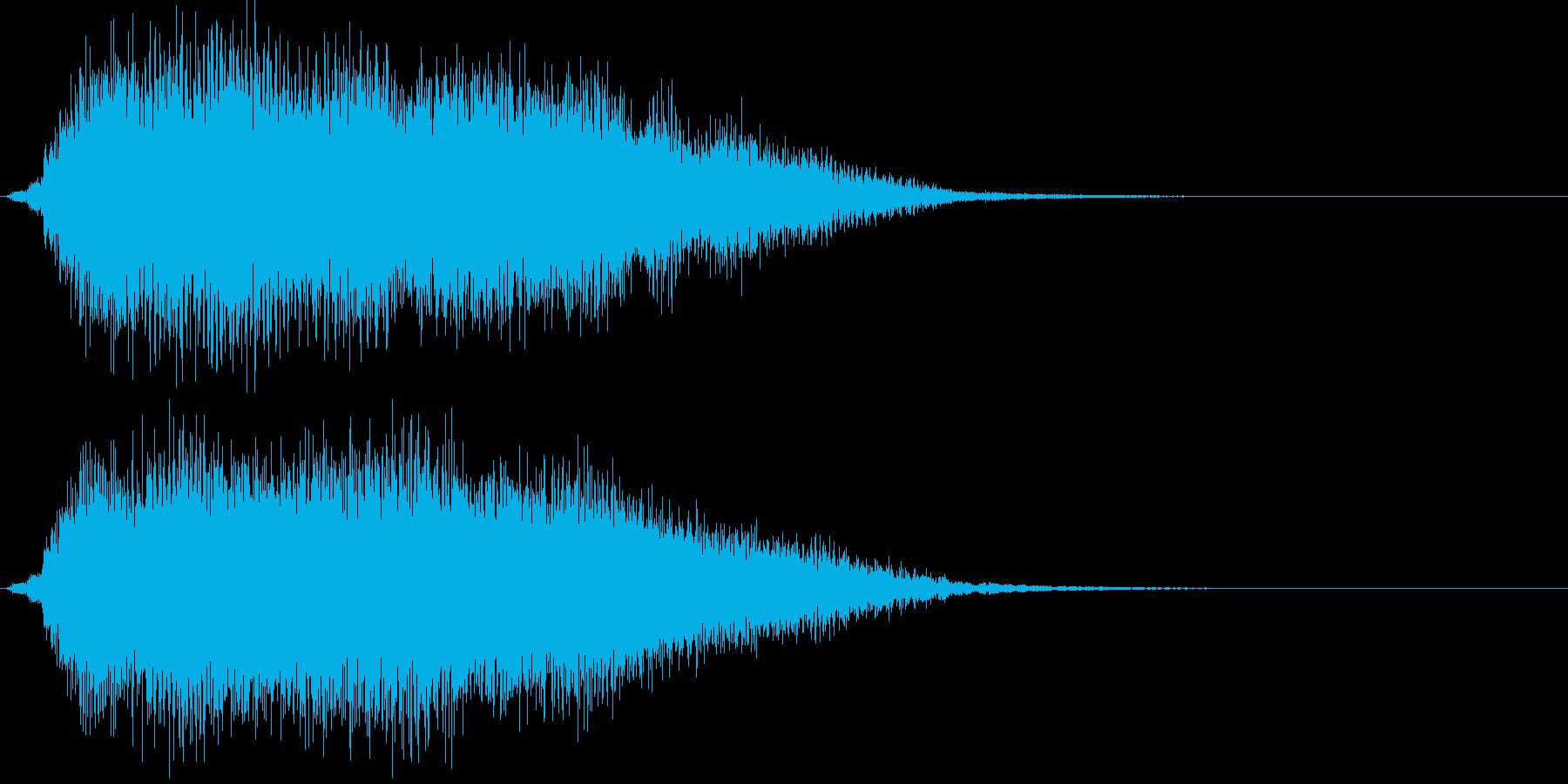 ドヨ~ン...。めまいでふらつく音(高)の再生済みの波形