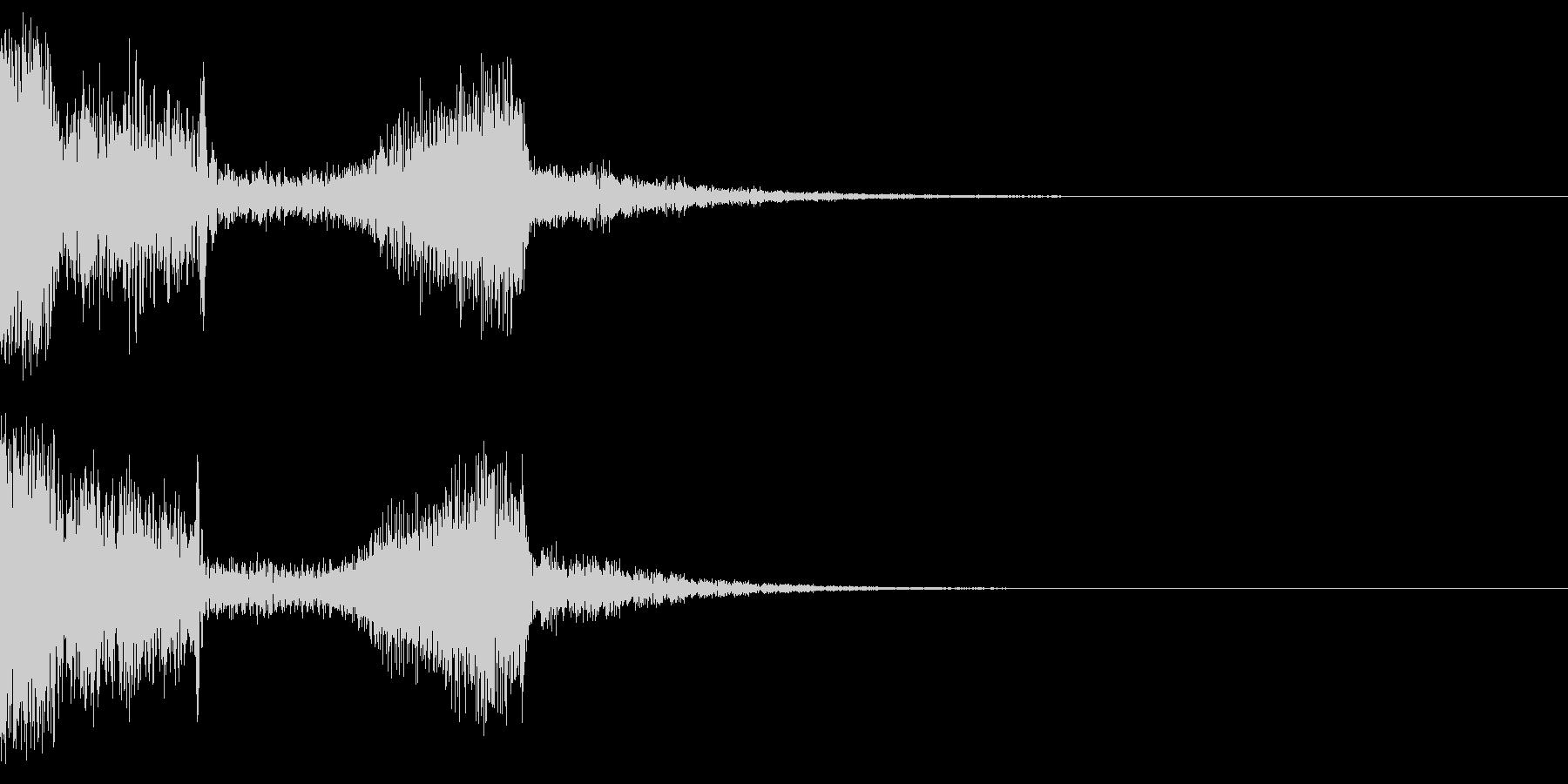 アタック系の音+空間の未再生の波形