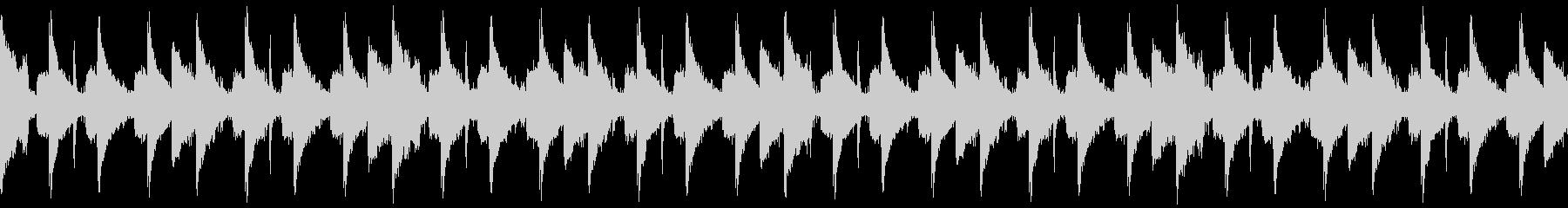 エレクトロサウンドにロボットボイスの未再生の波形
