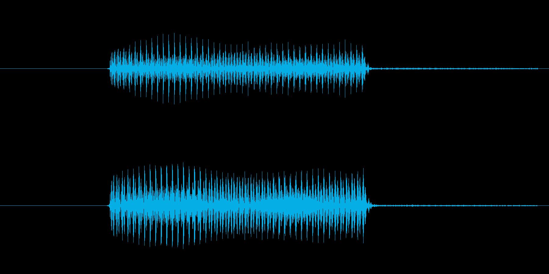 ゲーム、クイズ(ブー音)_011の再生済みの波形