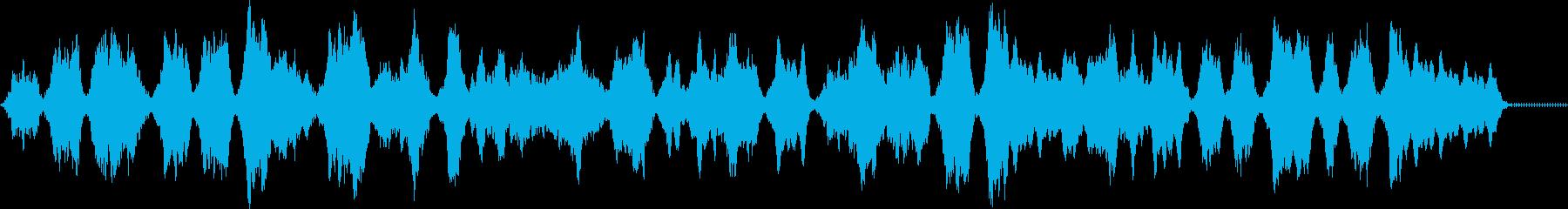 幻想的で宇宙をイメージするメロディの再生済みの波形