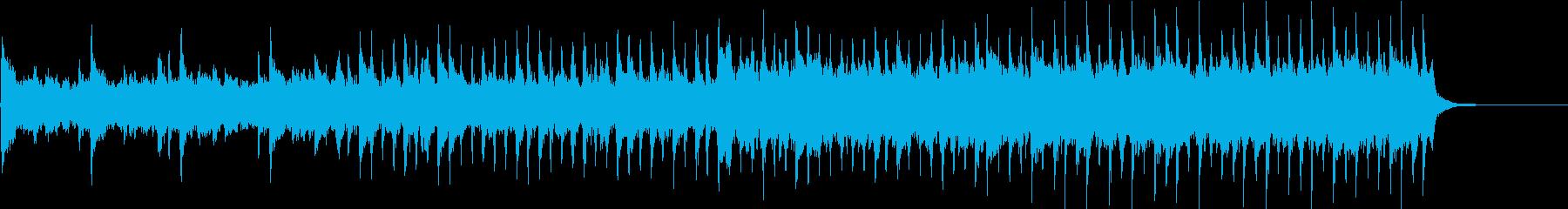 企業VPやCM向4つ打ち躍動感あるBGMの再生済みの波形