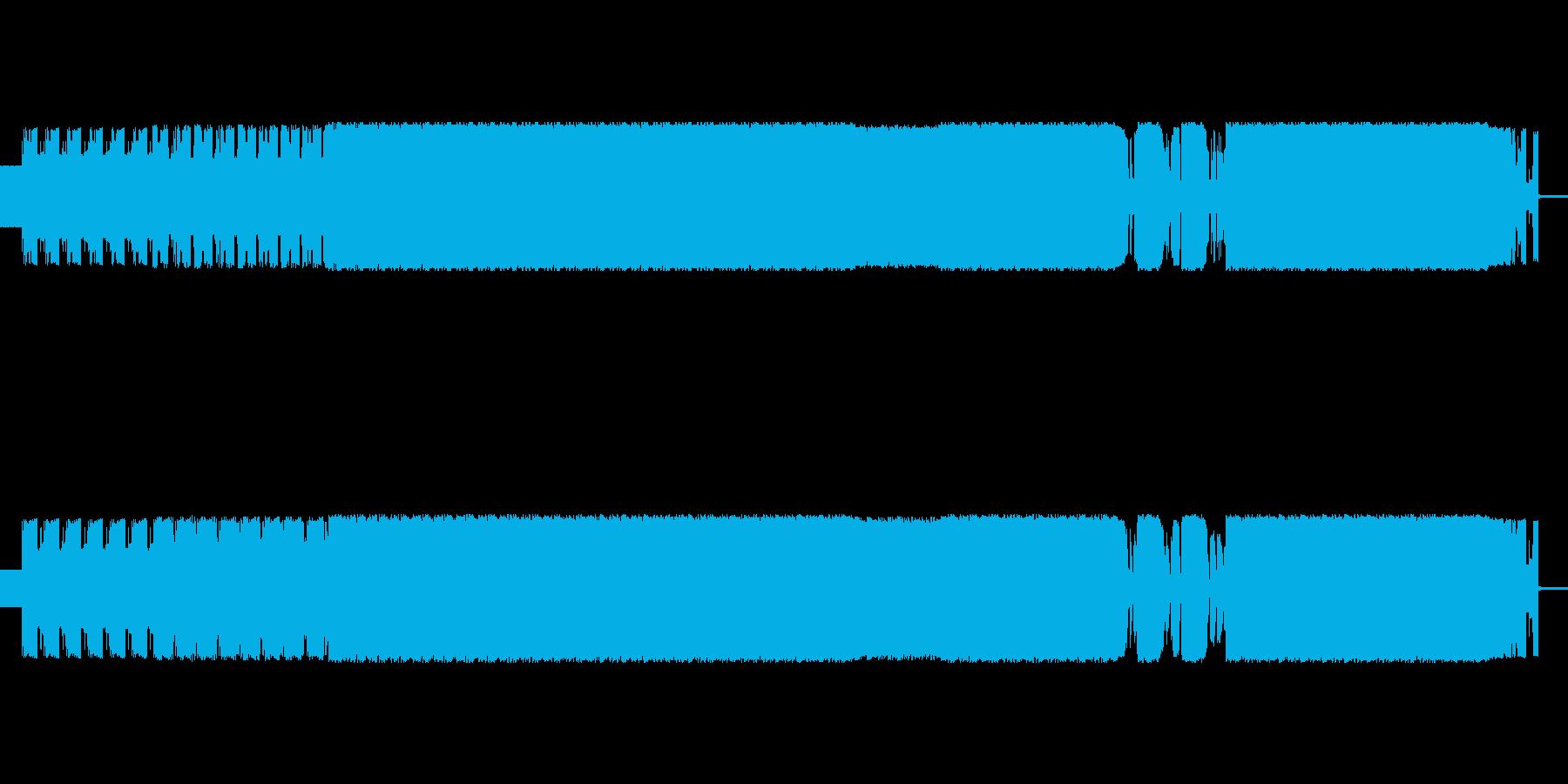 歪んだ音のエレクトロミュージックの再生済みの波形