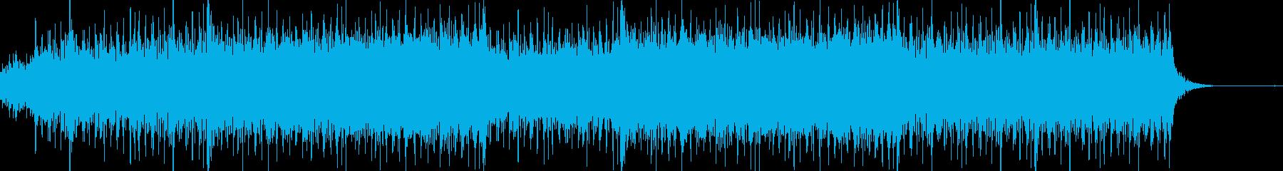 緊迫した戦闘シーン ピアノ・ドラム・弦の再生済みの波形
