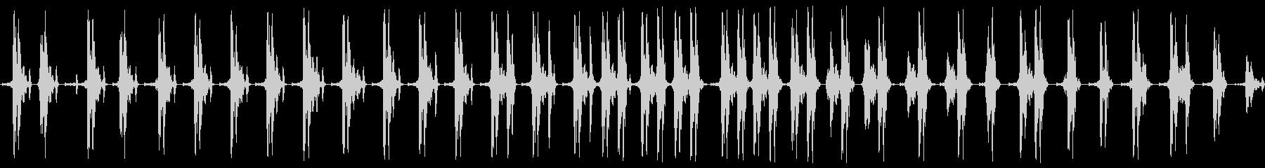 グググギリギリ。締め上げる音の未再生の波形