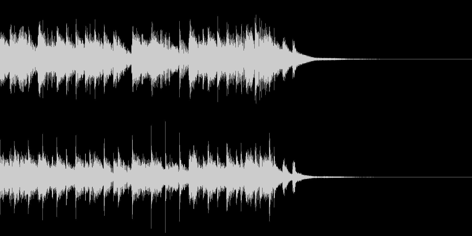 箏(琴)とエレクトロの和風なジングルの未再生の波形
