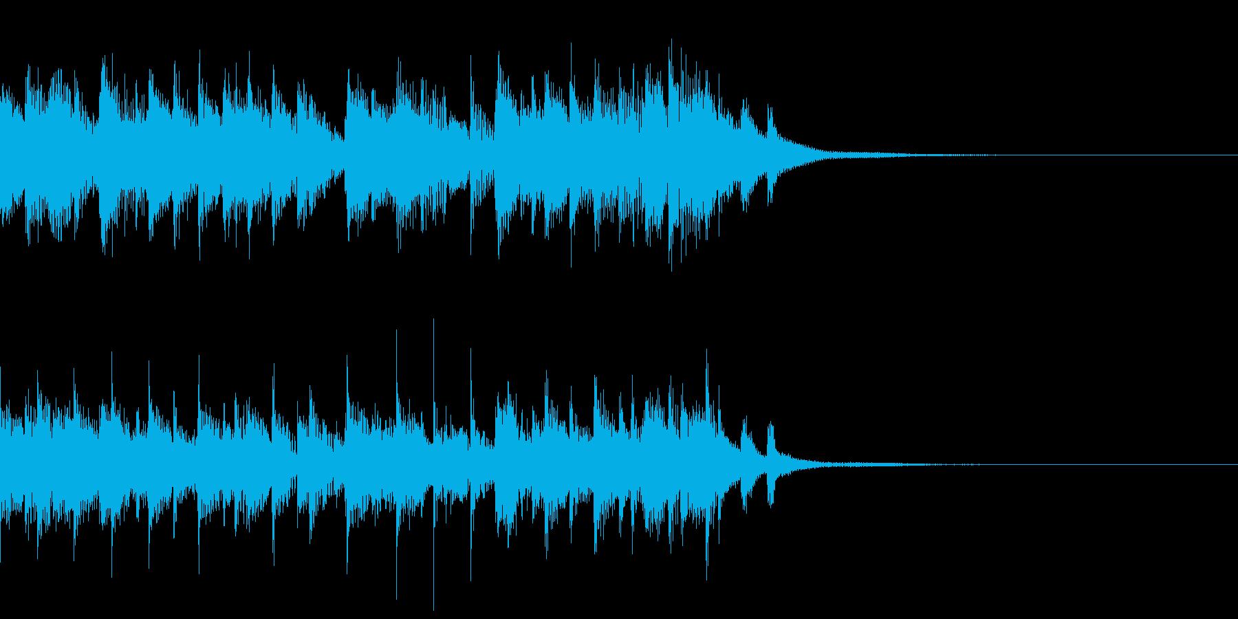 箏(琴)とエレクトロの和風なジングルの再生済みの波形
