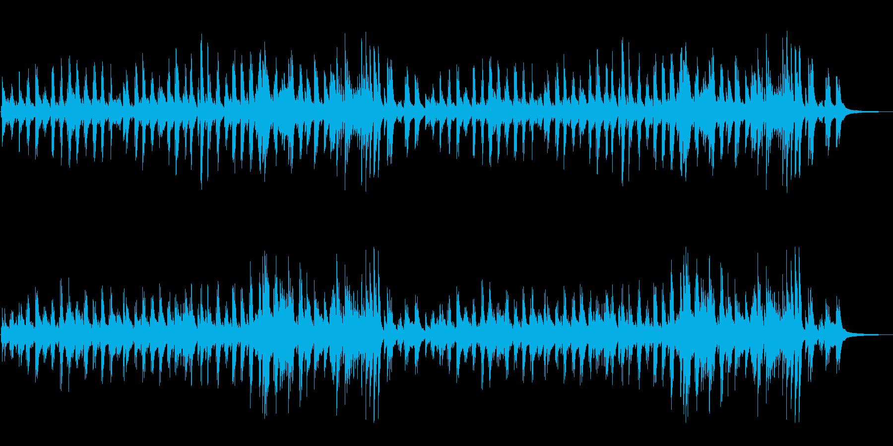 やさしい明るめのピアノソロの再生済みの波形