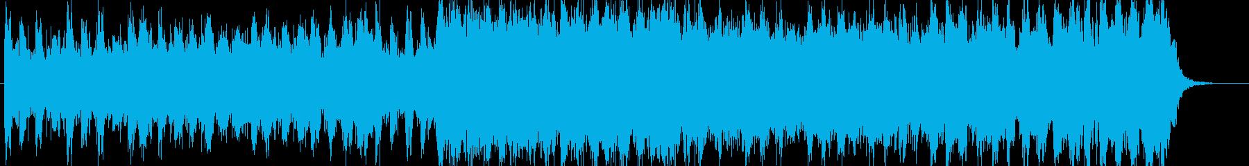 困難に立ち向かうイメージの再生済みの波形