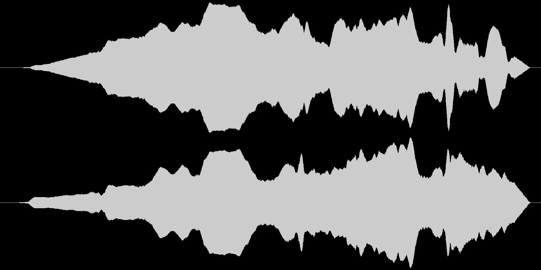 うねる風 オノマトペ(遅上昇)ヒヨヒヨ…の未再生の波形