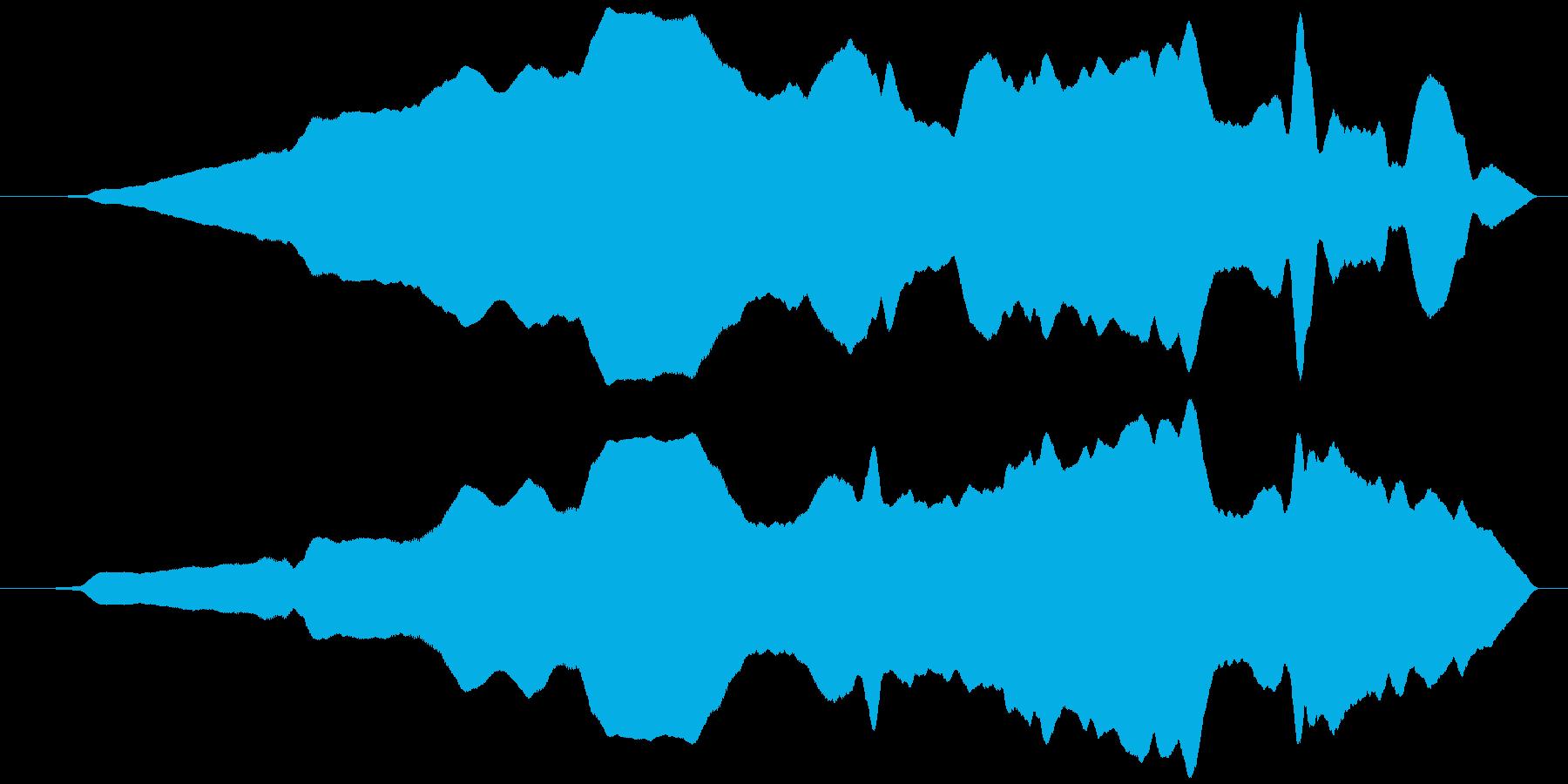 うねる風 オノマトペ(遅上昇)ヒヨヒヨ…の再生済みの波形