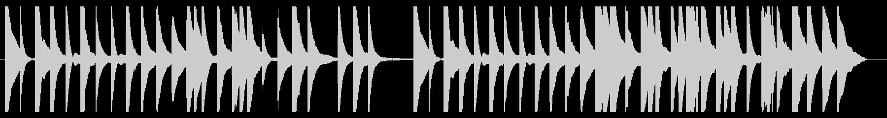 1分・CM・素朴なピアノメロディーソロの未再生の波形