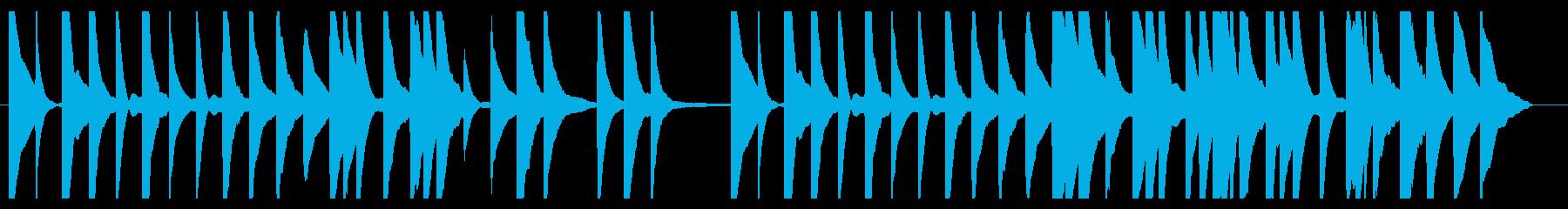 1分・CM・素朴なピアノメロディーソロの再生済みの波形