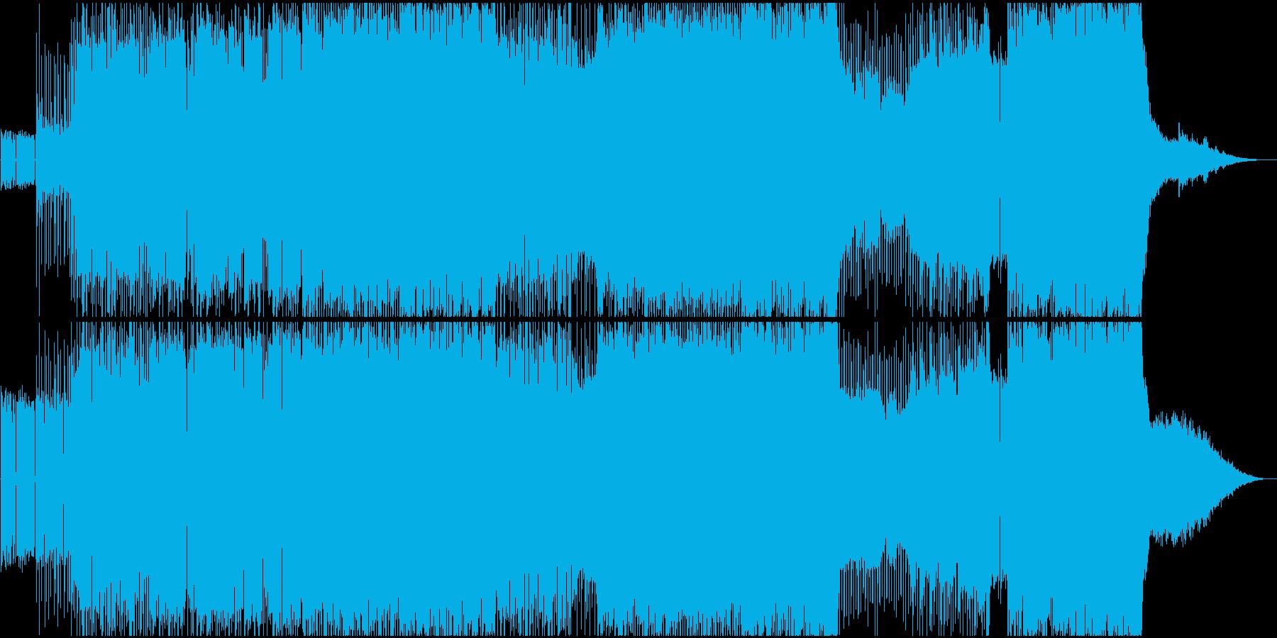 生演奏。女声Voの爽やかなポップロックの再生済みの波形