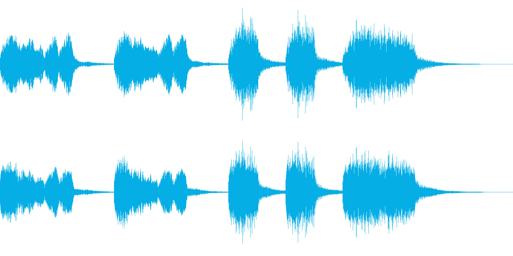 【ジングル】アコーディオンの可愛いBGMの再生済みの波形
