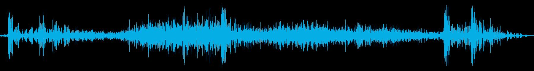 引き出しやたんすの開閉音の再生済みの波形