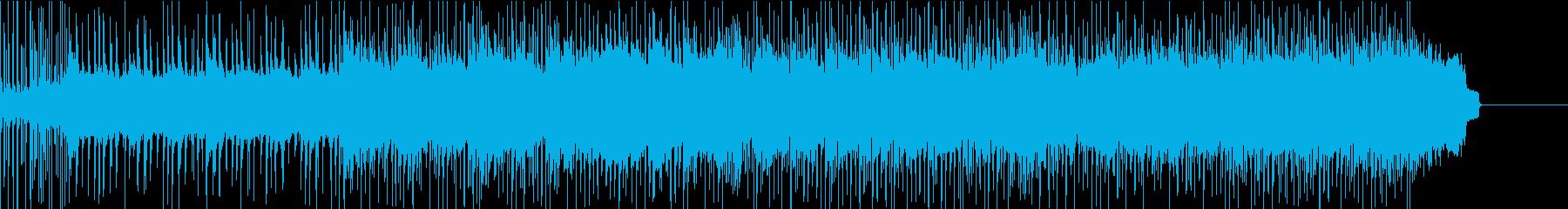 グラマラスなドラムと流れるギターソロの再生済みの波形