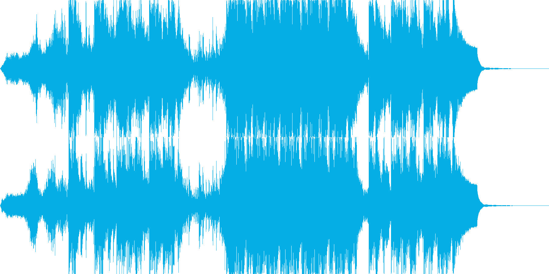 TPSのゲームにある草原でのスナイパー戦の再生済みの波形