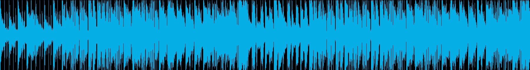 雨の日に合うアンビエントなループBGMの再生済みの波形