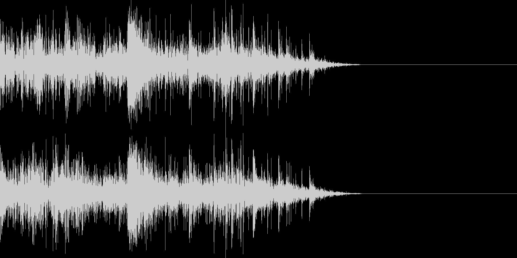 ドンパァ〜花火の本当にリアルな効果音11の未再生の波形
