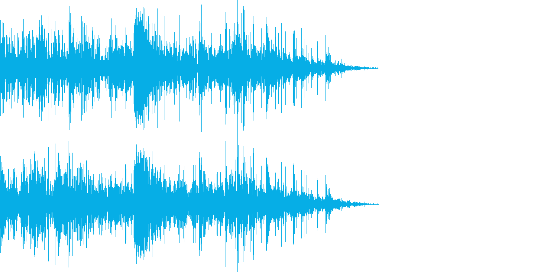 ドンパァ〜花火の本当にリアルな効果音11の再生済みの波形