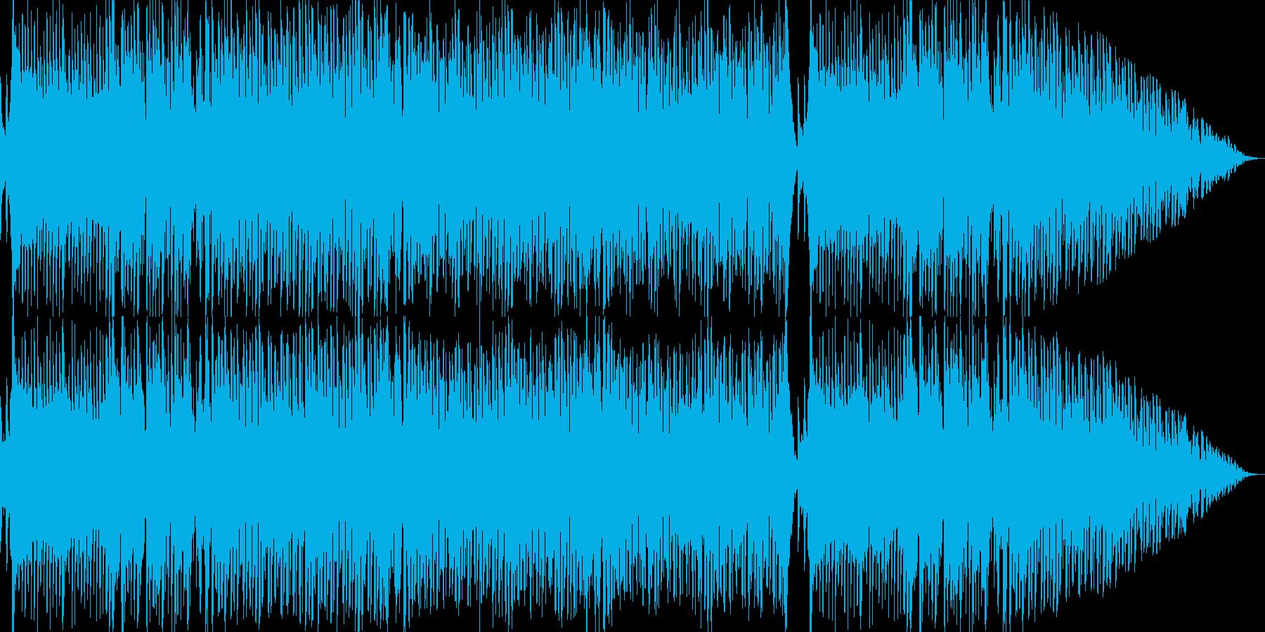 夏を感じる爽やかな和風エレクトロBGMの再生済みの波形