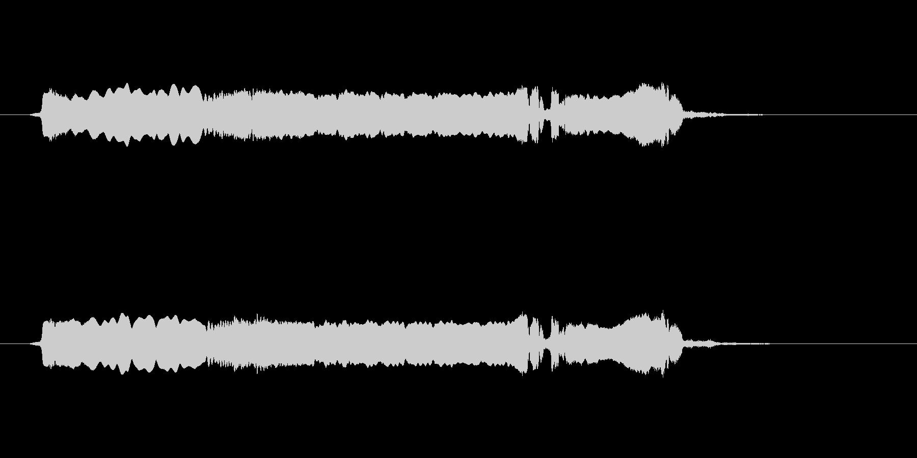 篠笛生演奏の勢いあるジングル02の未再生の波形