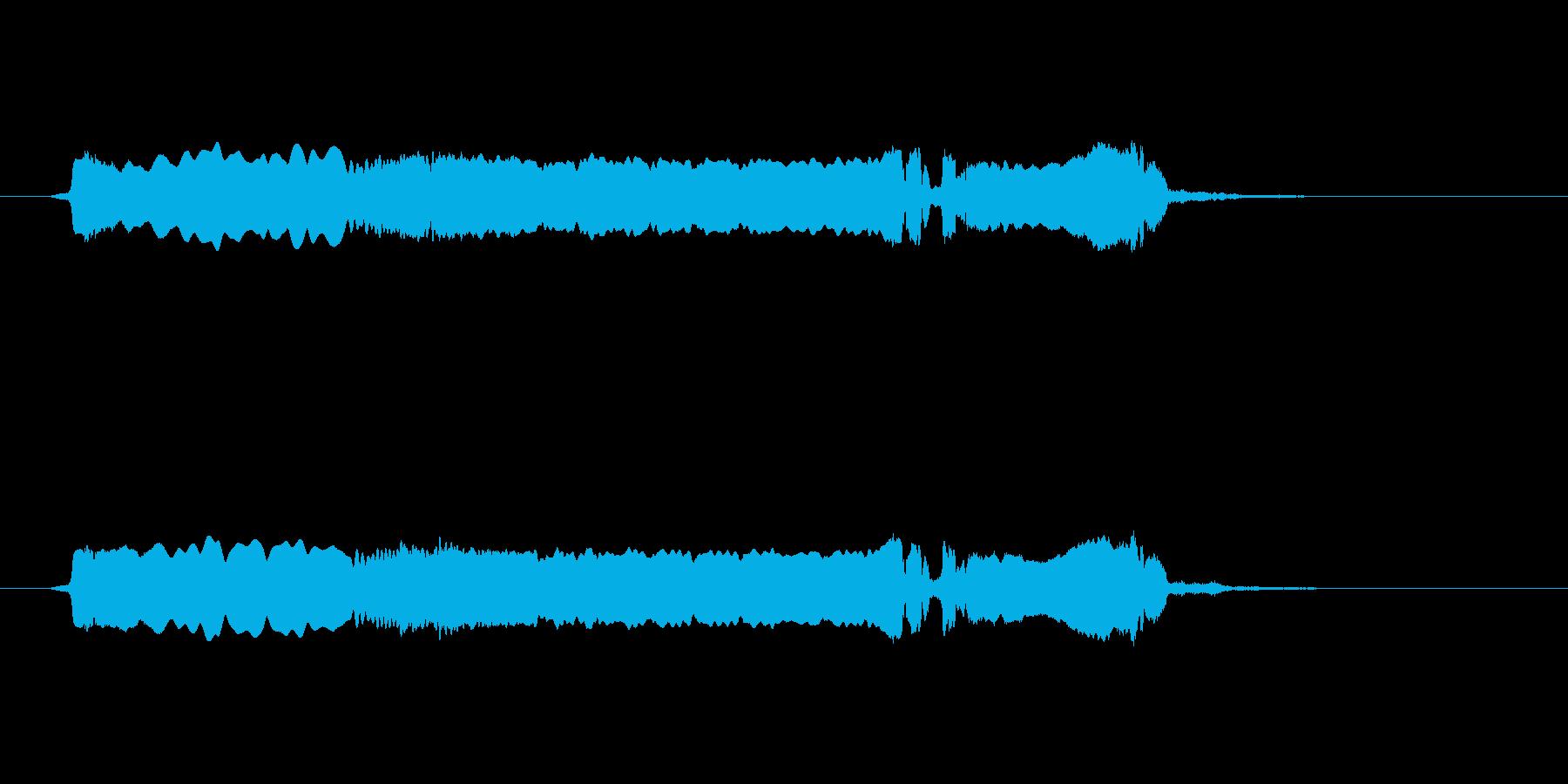 篠笛生演奏の勢いあるジングル02の再生済みの波形