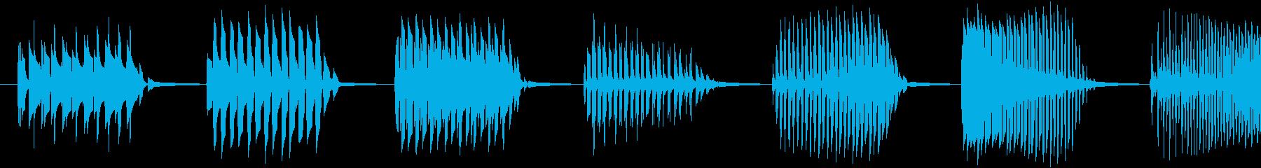 【クイズ】キレの良い出題音の再生済みの波形