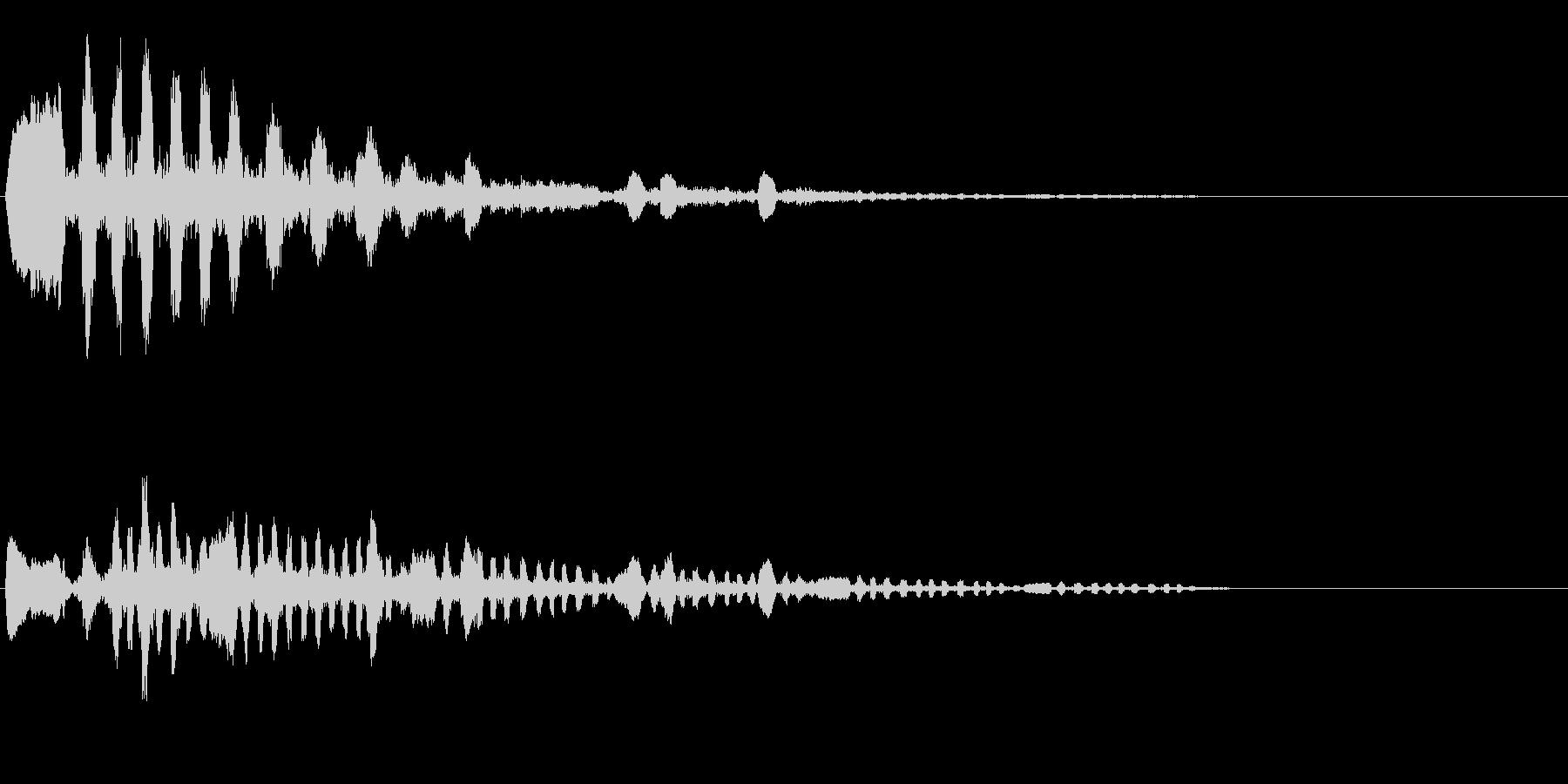 鳥のさえずりの未再生の波形