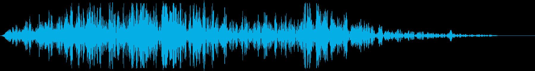 タイトルロゴに合うサウンドの再生済みの波形
