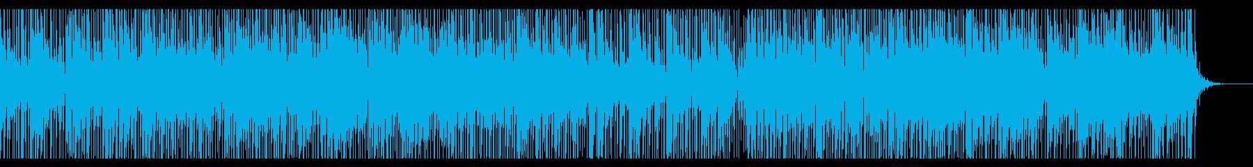 リズミカルで切ない雰囲気の曲の再生済みの波形