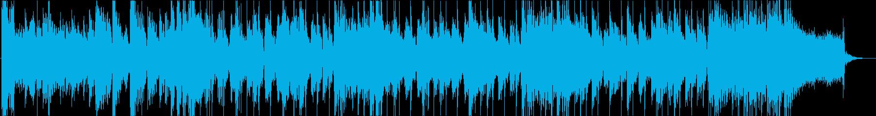 ロックで和風楽器な映像用のリズミカルな曲の再生済みの波形