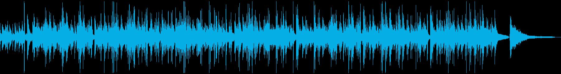まろやかで柔らかく揺れるボサノバ曲の再生済みの波形