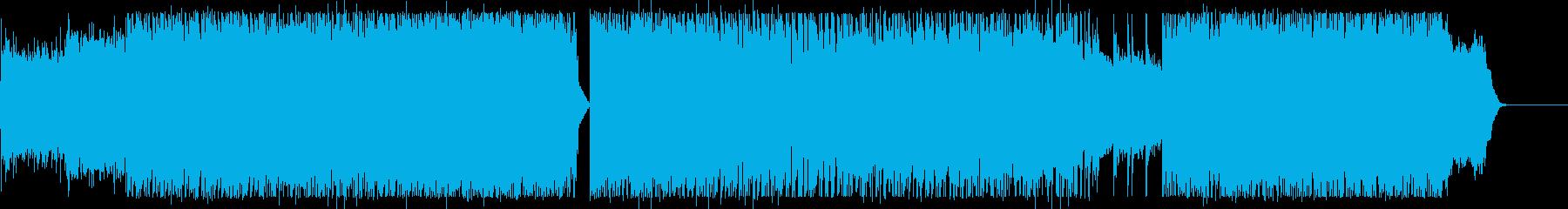 始まりにふさわしいアップテンポロックの再生済みの波形