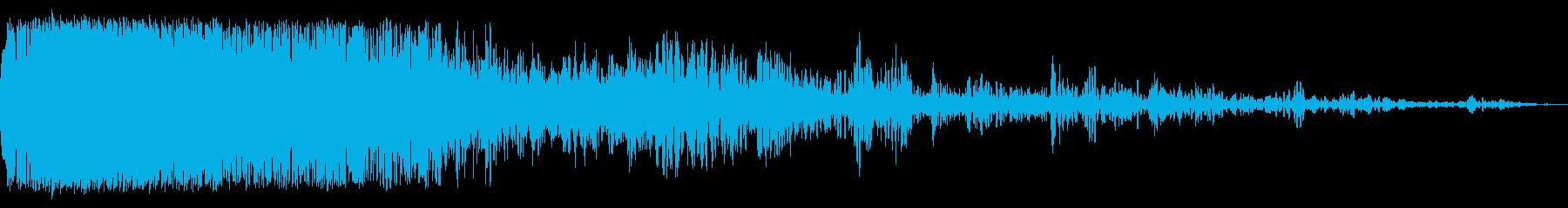 ジェット戦闘機-クラッシュ、クロー...の再生済みの波形