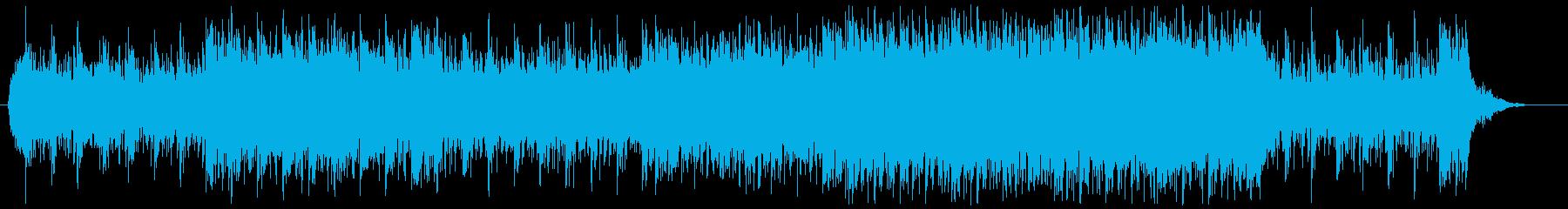 EDM系のミステリアスな楽曲の再生済みの波形