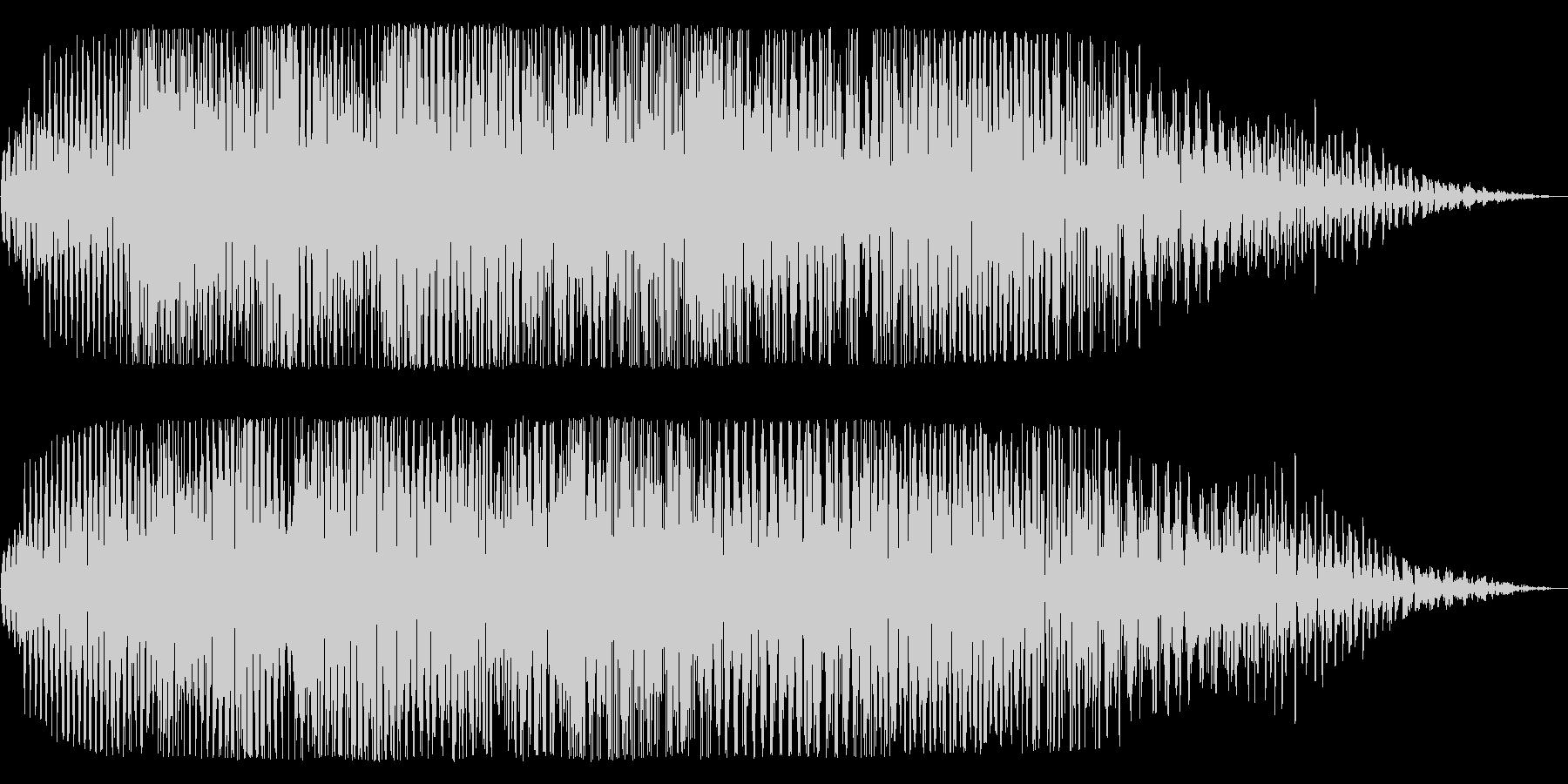 宇宙船が通過する神秘的な音の未再生の波形