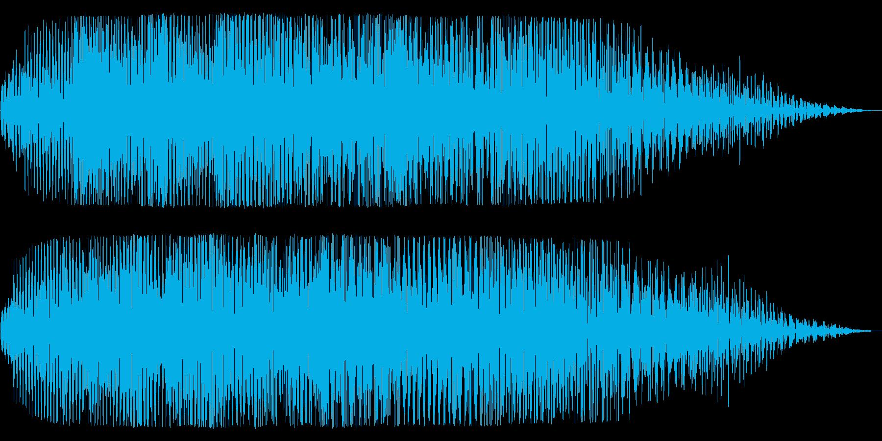 宇宙船が通過する神秘的な音の再生済みの波形