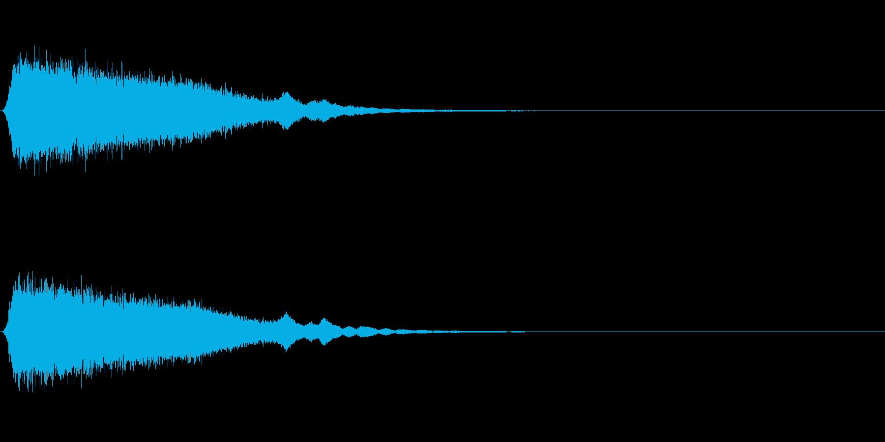 シューンと流れ星のような音の再生済みの波形