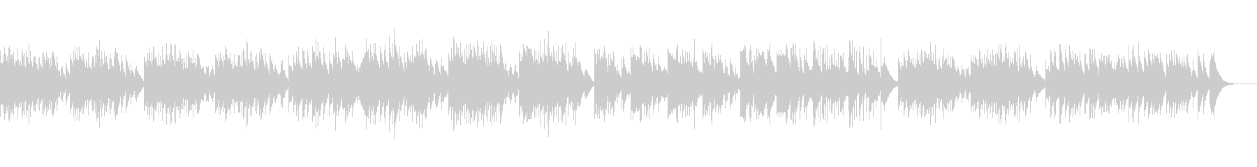 「ユーモレスク」オルゴール版の未再生の波形